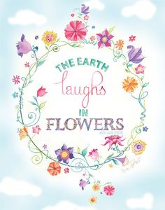 The Earth Laughs in Flowers 11 x 14 Print by GreenGirlCanvas