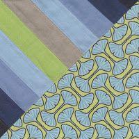 Scrappy Half Square Triangle block and quilt design