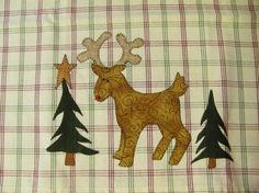 Santa's Little Reindeer Tea Towel Applique by quiltdoodledesigns, $2.00