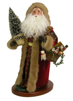 """Byers' Choice 19"""" Santa Trimmed in Fur Inv # 2931"""
