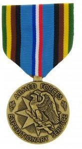 Armed Forces Expeditionary Military Medal & Military Ribbon