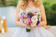 Gorgeous purple and ivory bridal bouquet  Whim Florals | Al Gawlik Wedding Photography