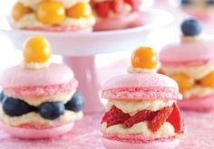 Macarons with berry filling!!