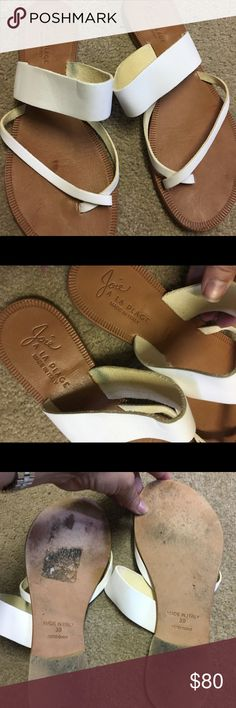 JOIE A La Plage White Leather Sandals Size 39. Barely worn. Soft white leather is in pristine condition. Joie Shoes Sandals