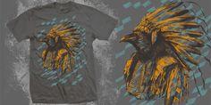 """Indian Crow"" t-shirt design by BioWorkZ"