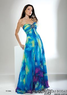 Vestido de Fiesta - Largo Fashion New-York Modelo NY8046 Été