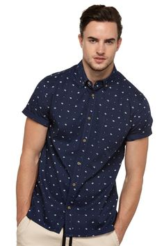 ss alfie printed shirt   Cotton On