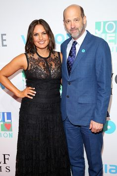 Mariska Hargitay Calls Taylor Swift an 'Extraordinary Spirit': Photo Mariska Hargitay poses with Andrew Rannells as she steps out for The Joyful Revolution Gala at Spring Studios on Wednesday evening (May in New York City. Anthony Edwards, Spring Studios, Olivia Benson, Mariska Hargitay, Woman Crush, Beautiful Actresses, Pretty Woman, Taylor Swift, Revolution