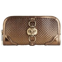 Burberry Country Animal Metallic Clutch Bag ❤ liked on Polyvore
