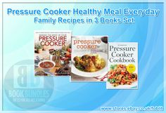 Pressure Cooker Healthy Meal Everyday Family Recipes in 3 Books Set. Buy now at http://ebay.eu/1BDRA53. #RecipeBooks #Books #Recipe #BookCollection