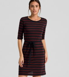 Jurk Tordis Stripes Bordeaux  #armedangels #fair