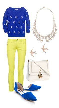 Yellow + Electric Blue