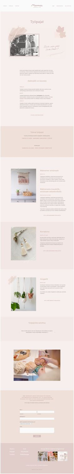 Website for Mimii Creative  Nettisivut Mimii Creativelle  #squarespace #website #webpage #webdesign