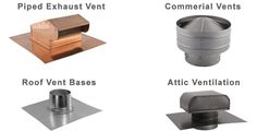 FAMCO offers a wide variety of metal roof vents for a variety of residential and commercial applications. Metal Roof Vents, Roof Vent Cap, Gable Vents, Chimney Cap, Bathroom Exhaust Fan, Attic, Cap Ideas, Wall, Image
