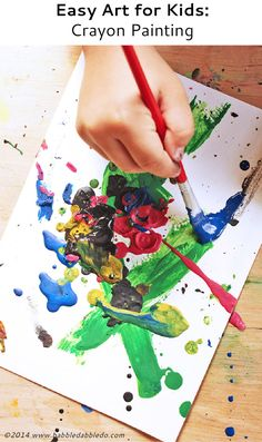 melted crayon art : crayon painting