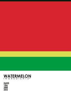 Pantone Fruit - Watermelon Art Print