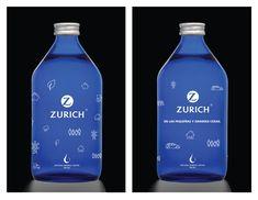 Limited edition, 2 designs, exclusively done for Zurich!! www.zurich.com.ar Natural Mineral Water, Premium Brands, Zurich, Vodka Bottle, Drinks, Design, Drinking, Beverages