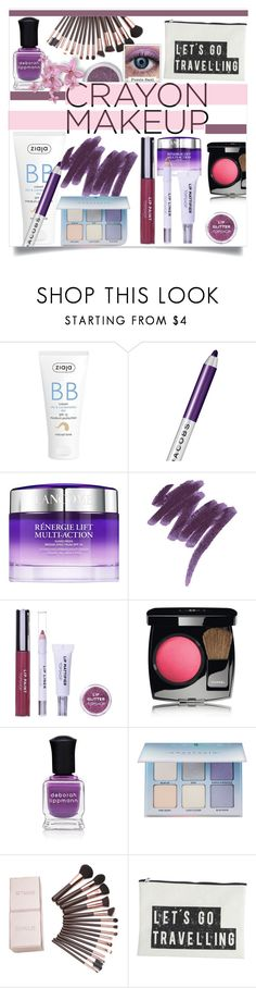 """•Crayon Makeup•"" by fashionvictim1989 ❤ liked on Polyvore featuring beauty, Ziaja, Marc Jacobs, Lancôme, Topshop, Chanel, Deborah Lippmann, Anastasia Beverly Hills, House Doctor and Color"
