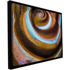 ArtWall Dean Uhlinger Top Down Floater Framed Gallery-Wrapped Canvas, Size: 32 x 48, Blue