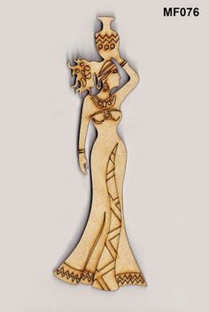 80 15 Figuras Corte Laser Africanas y autoctonas