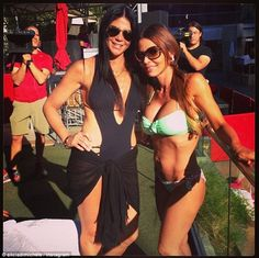 Pool posers: Alicia DiMichele (left) partying in Vegas at the Palms Pool with fellow 'new' Mob Wives cast member Natalie Elise Philly News, Mob Wives, Philadelphia Inquirer, Tv Show Casting, Tall Guys, Reality Tv, Reality Bites, Three Kids, Celebs