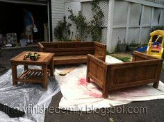 Refinishing wooden couch