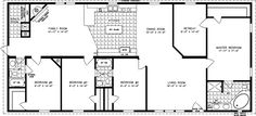 The TNR-46814W - Manufactured Home Floor Plan | Jacobsen Homes