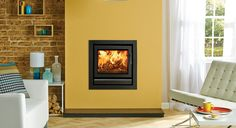 Stovax Riva 50 Wood Burning Fire at Fireplacce World Glasgow. http://www.fireplace-world.com