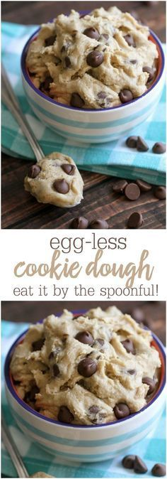 Grab a Spoon!! Egg-less Cookie Dough recipe for all the cookie dough lovers! { http://lilluna.com }