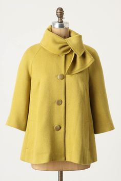 { Ascot Swing Coat by Tabitha, from Anthropologie [$168] }