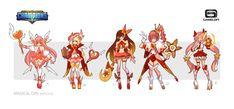 ArtStation - Magical Girl-concept for Dungeon Hunter Champions, Xuexiang Zhang