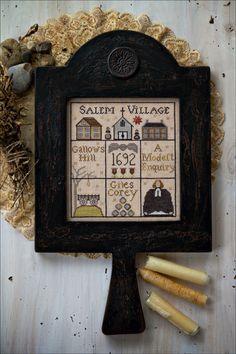 Cute Halloween design! Salem Hornbook by Plum Street Samplers