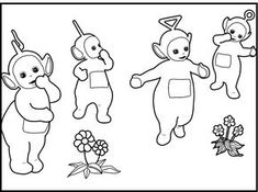 Teletubbies The Cute coloring picture for kids