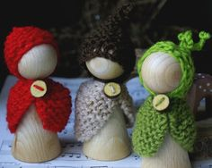 Waldorf Peg Doll -  Waldorf toy -  Waldorf gnome - Root Children - Autumn Nature Table - Gnome. - geen patroon