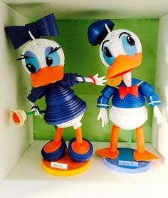 Donald Duck & Daisy Duck- made by Only 1 Art Centre