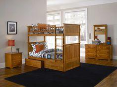 Atlantic Furniture Nantucket Bunk Bed with Flat Panel Drawers & Reviews | Wayfair
