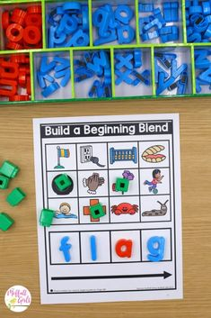 Hands-on, engaging, and systematic phonics for beginning readers! This beginning blends packet is part of the Phonics Made Fun Level B Bundle! Spelling Lists, Spelling Activities, Sorting Activities, Silly Words, B Words, Play To Learn, Learn To Read, Partner Cards, Teacher Table