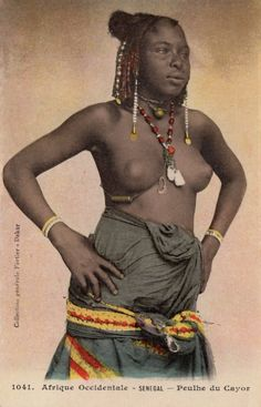 "Africa | ""Peulhe du Cayor"" Senegal - Afrique Occidentale. 