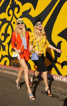 Harpers Bazaar, Anne V. and Jessica Hart photographed by Tommy Ton
