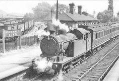 Steam train, at Hucknall Notts Steam Trains Uk, Disused Stations, Steam Railway, Train Art, Old Trains, British Rail, Train Journey, Steamers, Watercolor Sketch