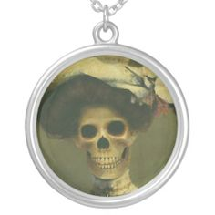 Gothic Skeleton Lady Necklace