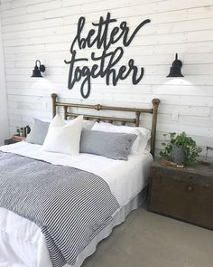 Home decor bedroom - Sponsors for the Farmhouse Build with Cottages and Bungalows Magazine Cottages And Bungalows, Sweet Home, Diy Casa, Ship Lap Walls, Suites, Home Decor Bedroom, Couple Bedroom Decor, Decor For Master Bedroom, Bedroom Wall Lamps