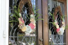 Note Songs: Front Door Spring Wreaths