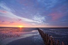 Bildergebnis für im watt Great Pictures, Beautiful Pictures, North Sea, Sunrise, Coast, Germany, Country, Beach, Places