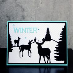 Sizzix Inspiration | Winter Silhouette Card by Tami Mayberry
