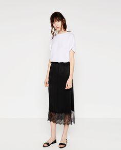 ミディ丈スカート-すべてを見る-スカート-レディース | ZARA 日本