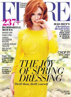 Corinna Bs World: Christina Hendricks ~ Flare Magazine