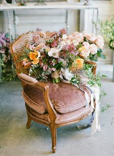 Wedding Trends Southern Blooms Spring Bridal Inspiration - For this bridal inspiration session, Southern Blooms by Pat's Floral Designs created an abundance of spectacular floral arrangements. Magenta Wedding, Spring Wedding Flowers, Flower Bouquet Wedding, Floral Wedding, Elegant Wedding, Flower Bouquets, Dream Wedding, Bridal Bouquets, Country Garden Weddings