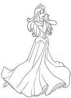 kolorowanki Śpiąca królewna Aurora malowanka Disney numer  42