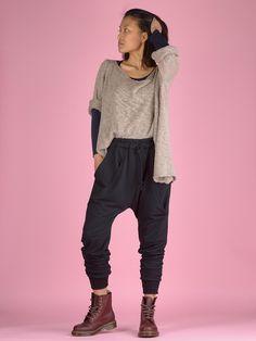 Double Pocket Jogger Pants - High Crotch